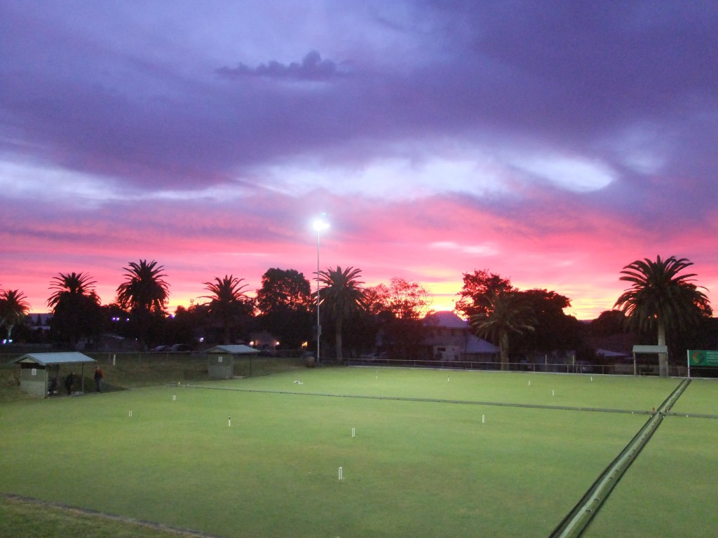 Sunrise over the Club's lawns as we prepare the day for a State Open Tournament