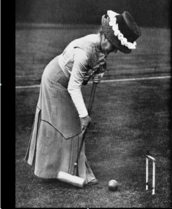 Early croquet player