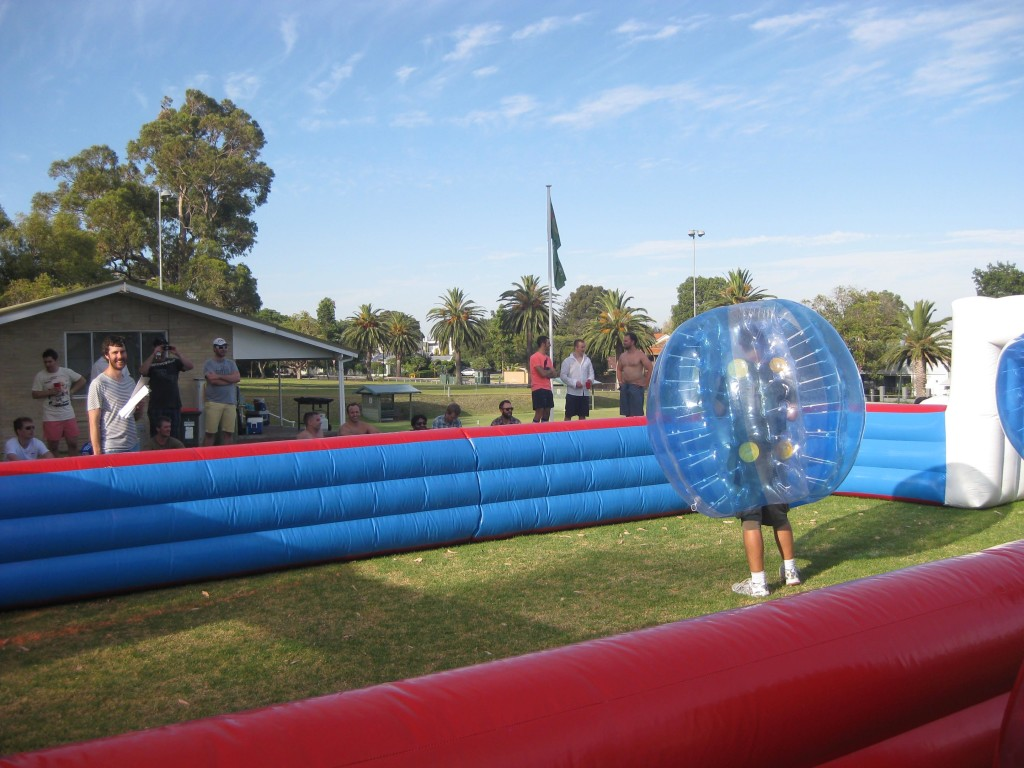 Zorb Soccer at Nedlands Croquet Club