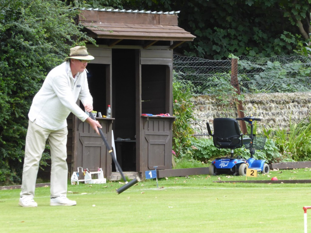 Lionel Tibble - winner of 2015 Sussex Open Golf Croquet Championship